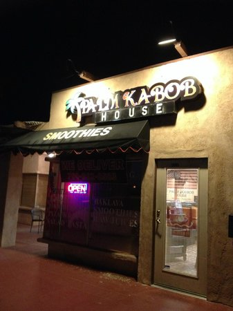 Palm Kabob House : Outside, night shot