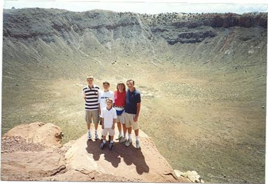 Meteor Crater: Our family at the edge of that massive crater