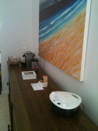Strandloper Ocean Boutique Hotel : Für Musik und Kaffee ist gesorgt