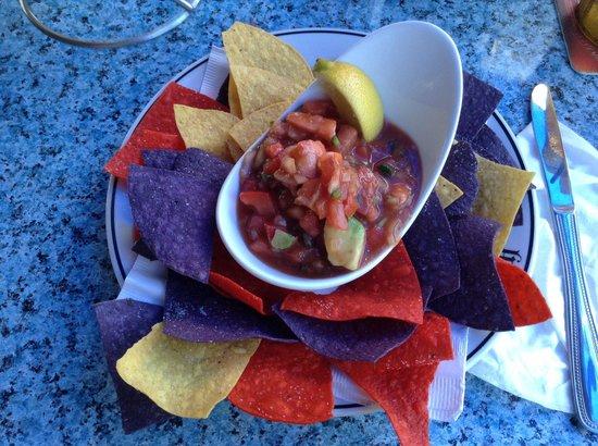 Snappers Oceanfront Restaurant & Bar: Mexican Shrimp Salsa