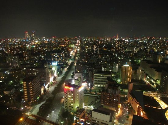 ANA Crowne Plaza Hotel Grand Court Nagoya: View from my room on the station side.