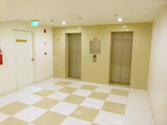 Hometel Chandigarh: lift lobby