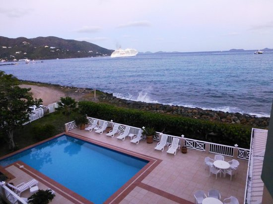 Maria's by the Sea: View of pool from balcony