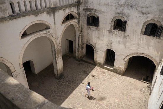 Elmina Castle: inside the a promenade in the castle