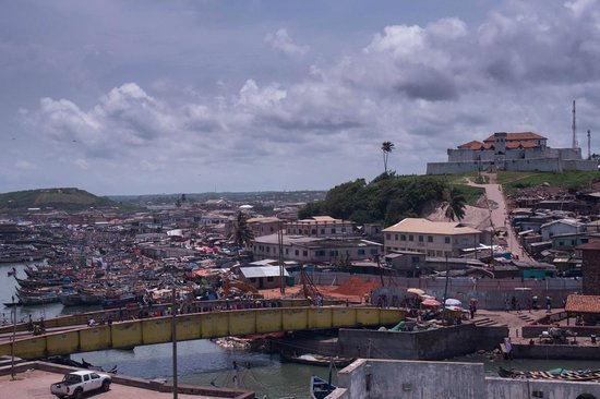 Elmina Castle: overlooking the city and another fortress on a hill