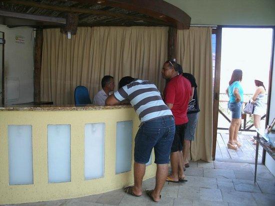 Cabanas Praia Hotel: A recepção do hotel
