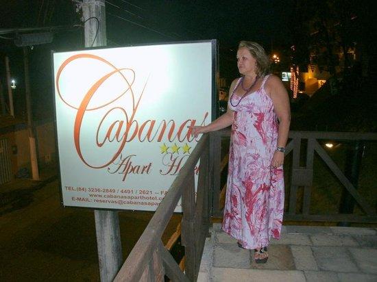 Cabanas Praia Hotel: A outdoor de entrada do cabanas apart