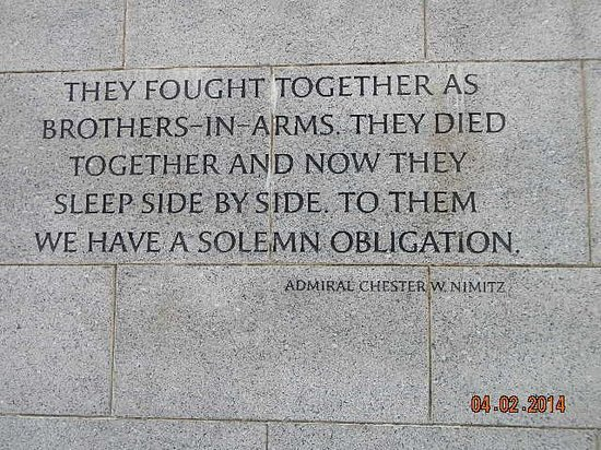 National World War II Memorial : they fought together as brothers