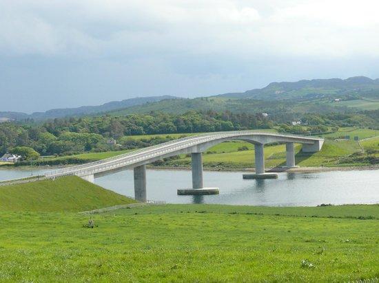 Glencairn House: bridge from fanad penninsula across mulroy bay