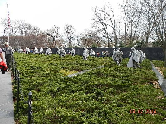 Korean War Veterans Memorial : then 19 all on guard