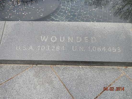 Korean War Veterans Memorial: the wounded