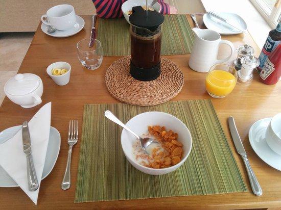 Ashfield House Luxury B&B: Served breakfast