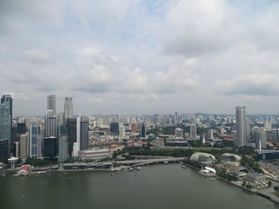 Orchard Hotel Singapore: View from SkyPark at Marina Bay Hotel