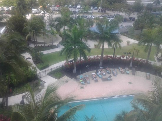 Miami Airport Marriott: View from room