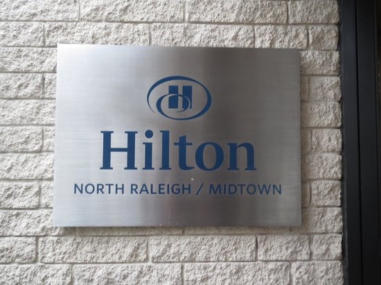 Hilton North Raleigh/Midtown : signage