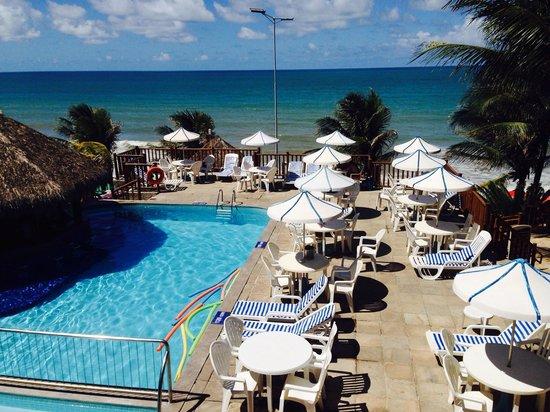 Visual Praia Hotel: Vista do meu quarto para piscina principal