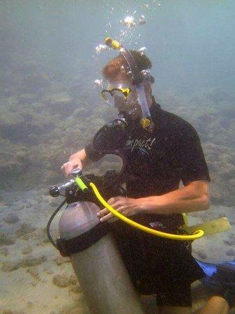 Free Diving Caribbean: Oefening onderwater