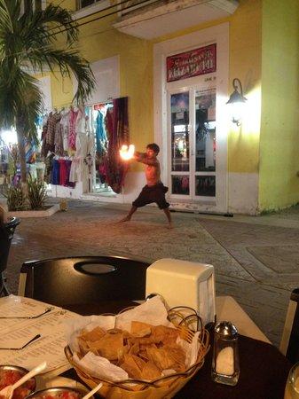 Casa Denis: Fire dancer