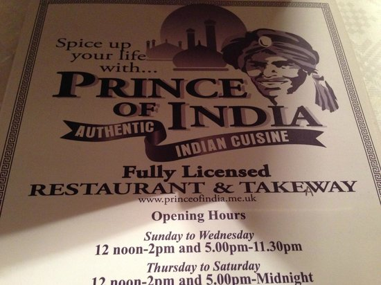 Prince of India: spot the biro effort