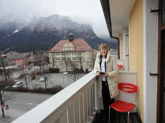 Hotel Vier Jahreszeiten: View from our balcony