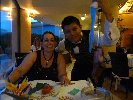 Grand Bahia Principe Coba: Gran tartugo, brasilian restorant