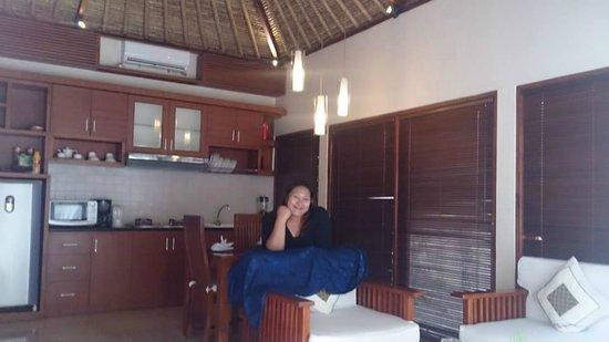 Balibaliku Beach Front Luxury Private Pool Villa : Living Area