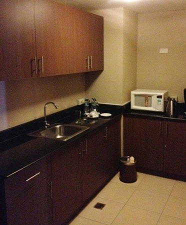 The A.Venue Hotel: bem equipado, com microondas e frige