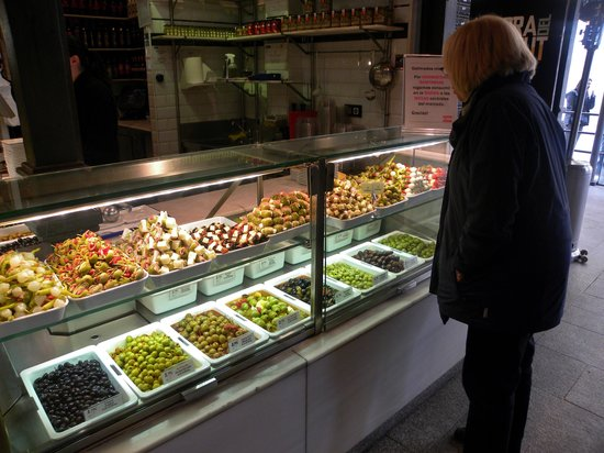 Mercado San Miguel: The olive display is incredible