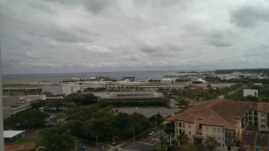 Hilton St Petersburg Bayfront: View from 14th FL, facing the airport and bay