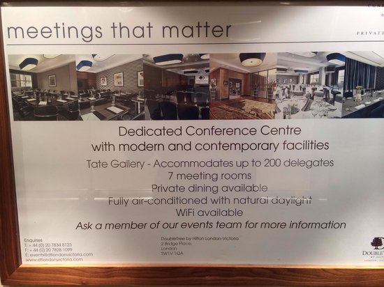 DoubleTree by Hilton London Victoria: Meeting room poster