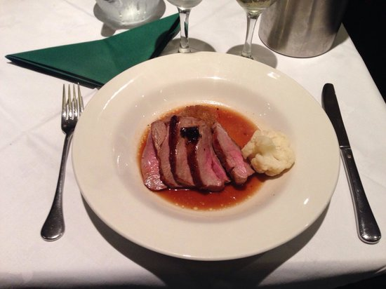 Pierre's: Roasted rump of lamb with dauphinois potatoes and caramelised onions (on set menu)
