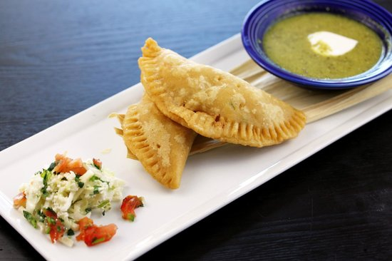 Maggie's Blue Rose : Crab and Corn Empanadas