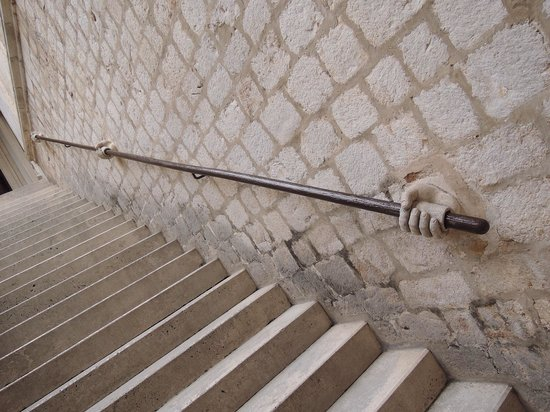 Rector's Palace : In case you need a hand getting up the stairs
