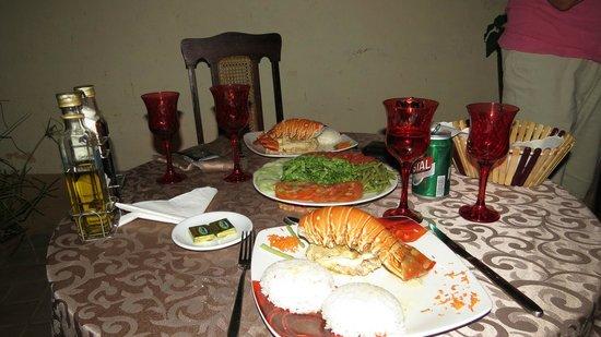 Hostal Martica y Jose: Lækker menu