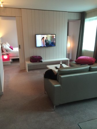 The Morrison, a DoubleTree by Hilton Hotel: King One Suite-pretty impressive with nice views across The River Liffey.