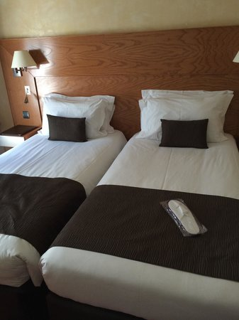 Hotel Magellan: Double bed really means twin bed