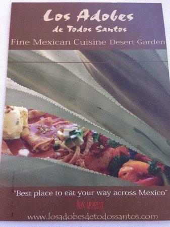 Los Adobes de Todos Santos: Fine Mexican Cuisine!