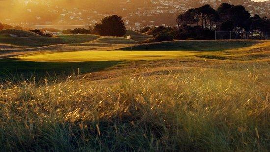 Chisholm Links: 12 green at dusk