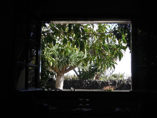 Caserio de Mozaga: View from bedroom in garden wing