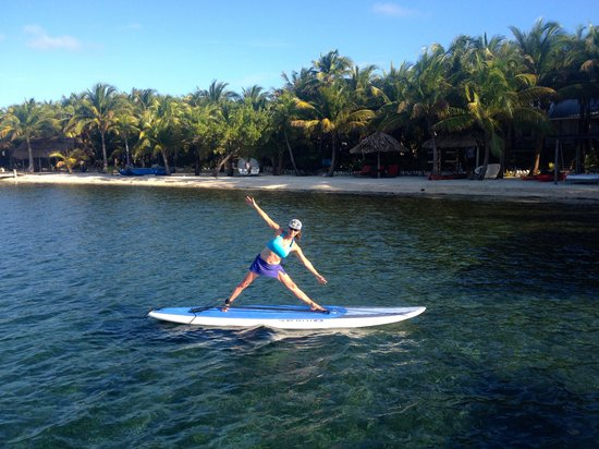 Off The Wall Dive Center & Resort: paddle board yoga