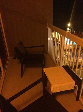 Hampton Inn Daytona Beach/Beachfront: Balcony area