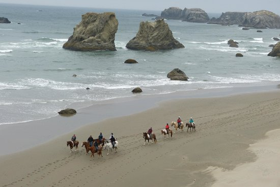Bandon Inn: Horseback riding on the beach