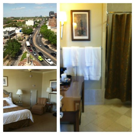 Warwick Melrose Hotel Dallas : view and bath