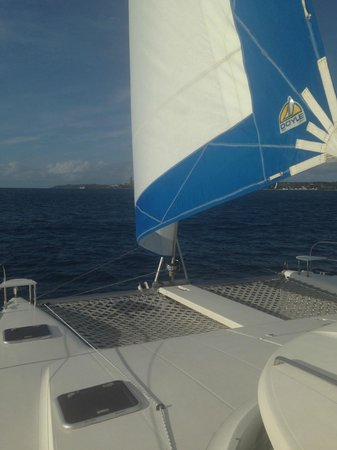 Good Times Catamaran Cruises : a great area to lounge on the boat