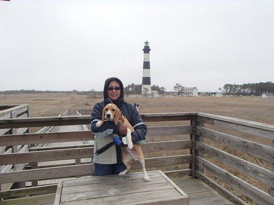 Bodie Island Lighthouse: Puppy Baxter enjoyed it too
