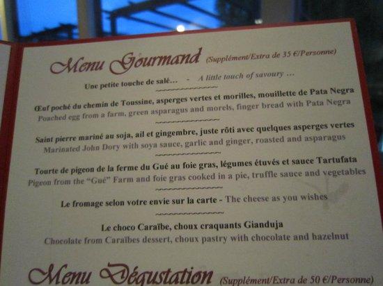 Domaine de Barive : menu gourmand