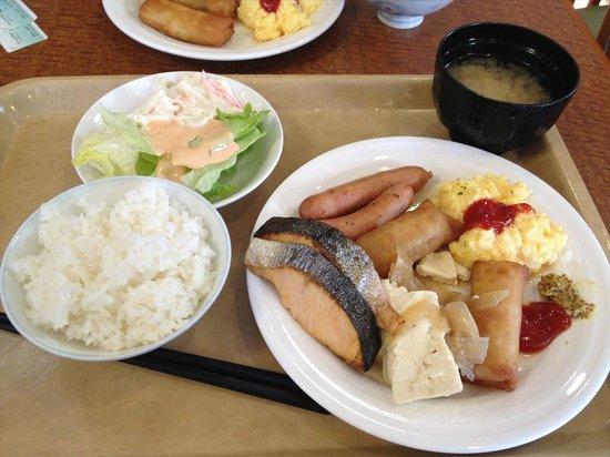 Hotel Route-Inn Aizuwakamatsu: 朝食