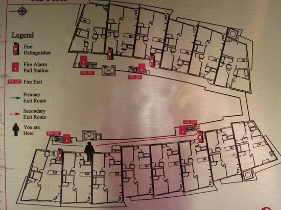 WorldMark Victoria: Floor plan of 5th floor