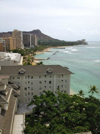 Moana Surfrider, A Westin Resort & Spa: View from the partial ocean view king rooms!