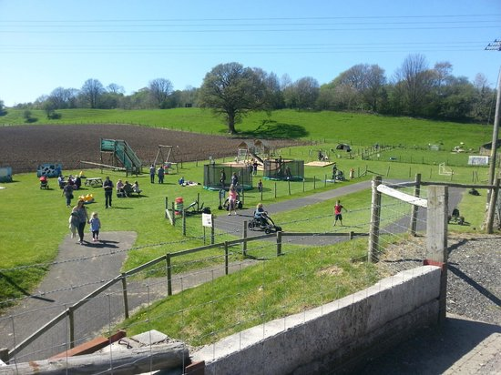 Lakeland Maze Farm Park : Outdoor play area - spotless and immaculately maintained